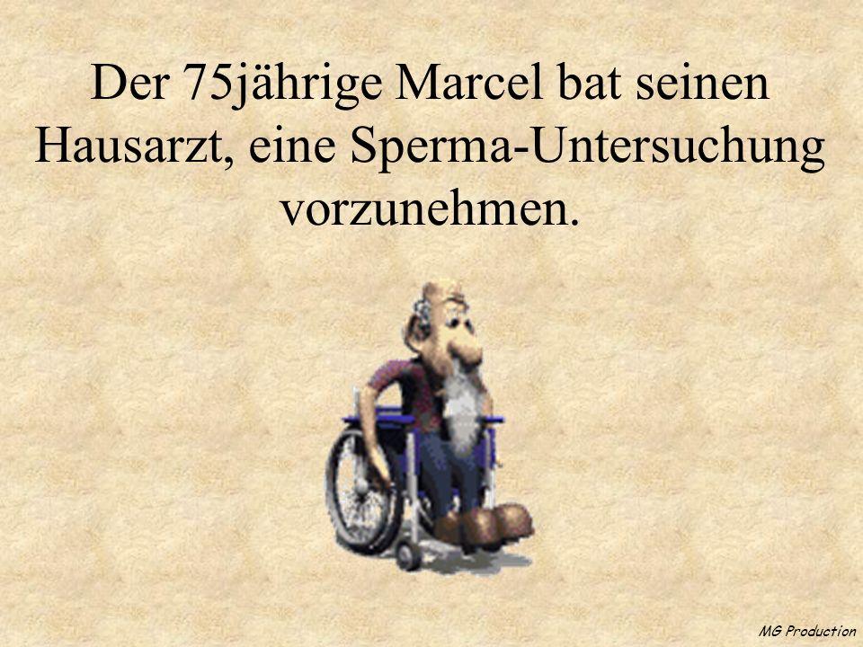 MG Production Der 75jährige Marcel bat seinen Hausarzt, eine Sperma-Untersuchung vorzunehmen.