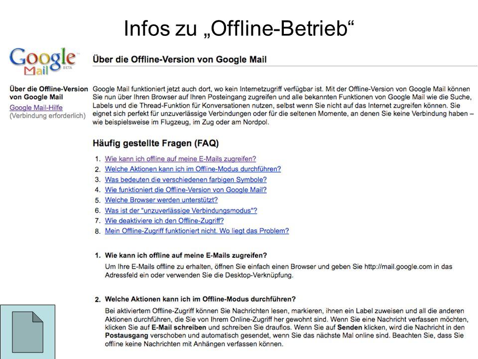 Infos zu Offline-Betrieb