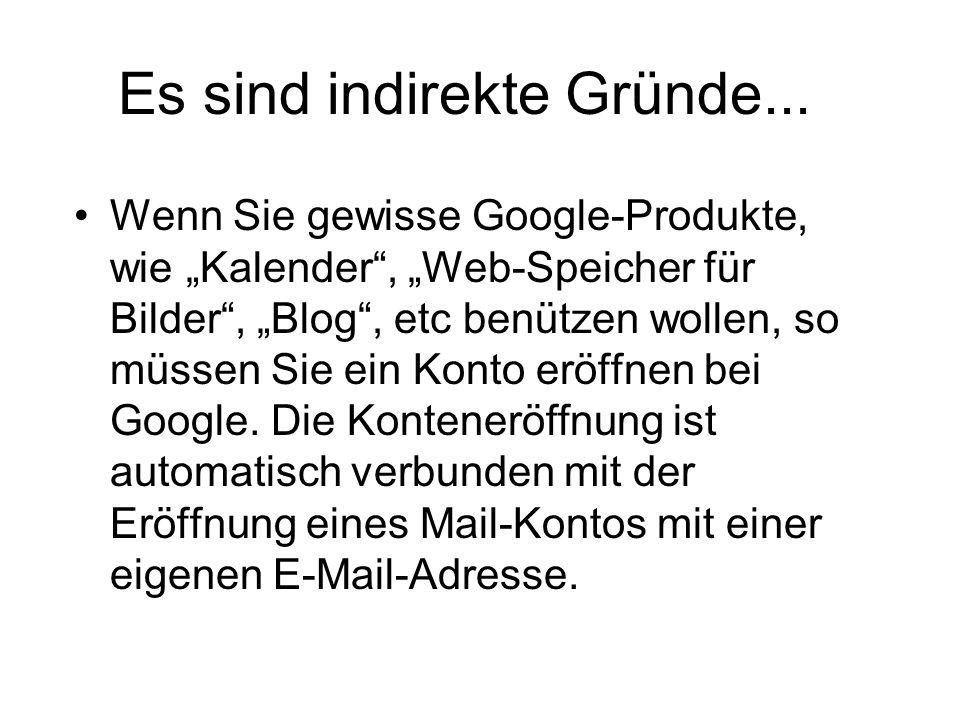 Übertragung der Web-Mails in ein Mail- Programm auf dem PC; 1.