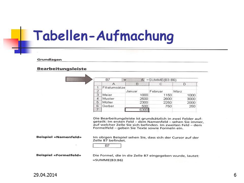 29.04.201417 Rechenbeispiele Vergleich OFFICE 2003 2007