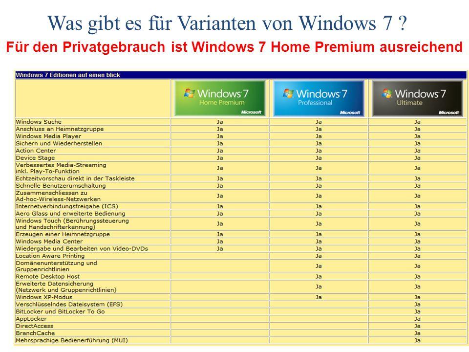Windows 7 Neuinstallation oder Update .
