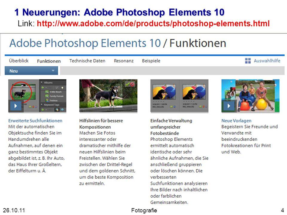 1 Neuerungen Adobe Photoshop Elements 9 5Fotografie26.10.11