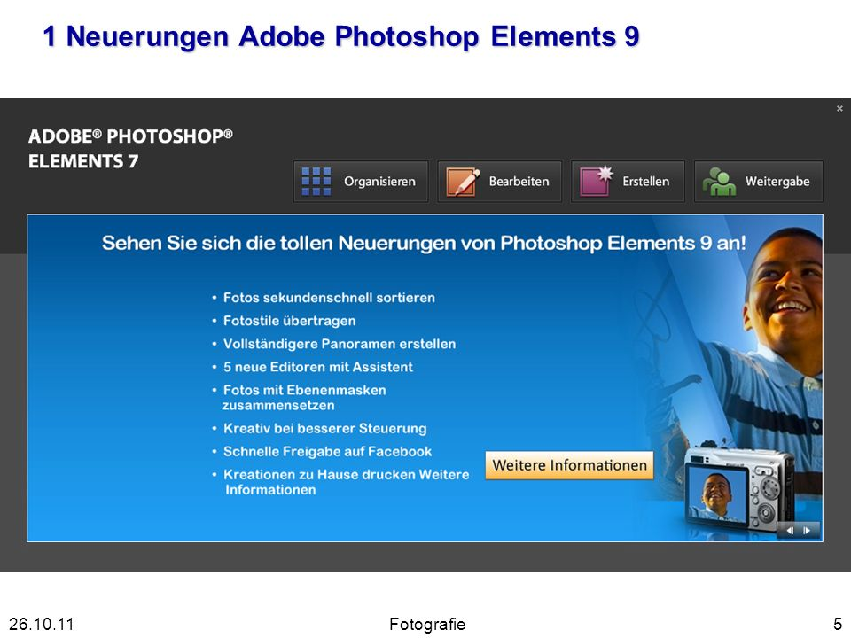 1 Neuerungen Adobe Photoshop Elements 9 5Fotografie26.10.11