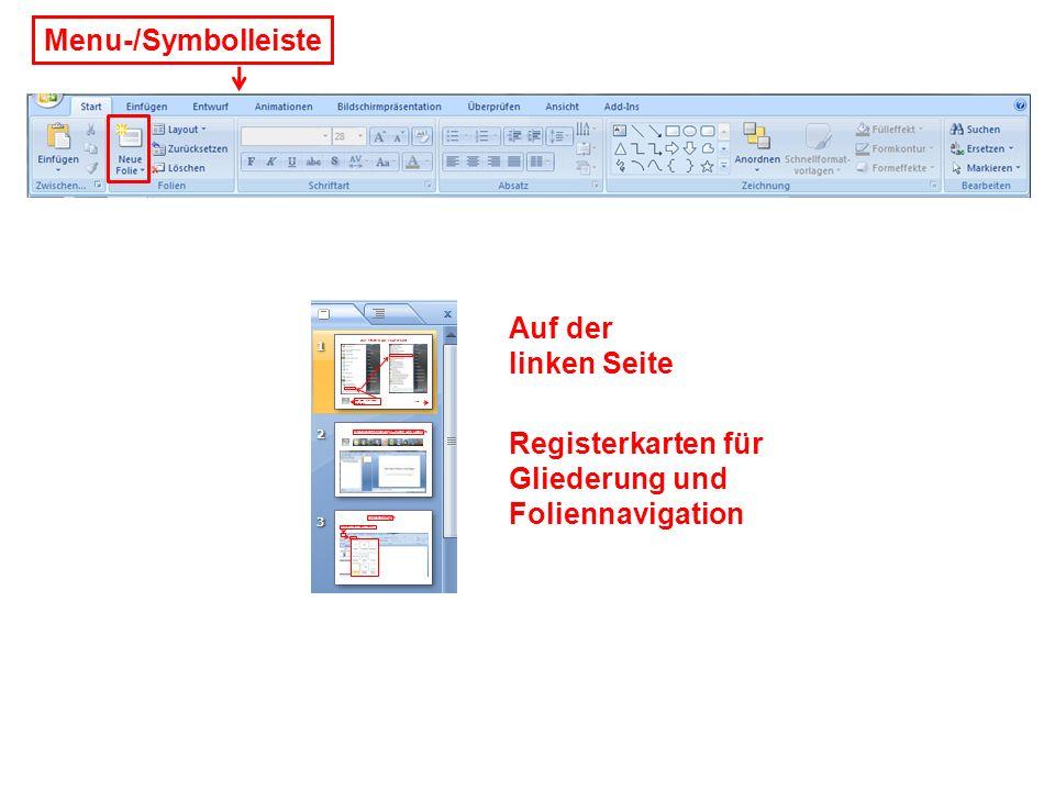 Menuleiste in PowerPoint 2007 ändert bei jeder Menuposition Start Einfügen Entwurf / Foliendesigns