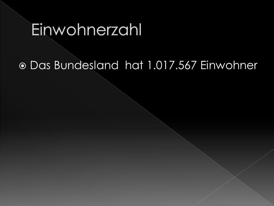 Das Bundesland hat 1.017.567 Einwohner