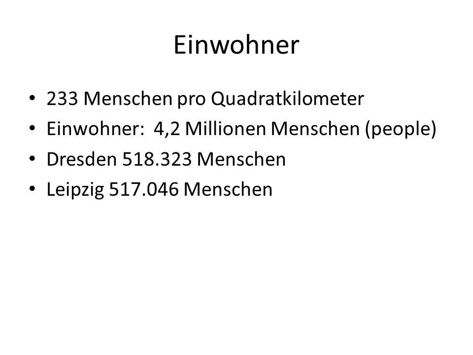 Wirtschaft/Economy Arbeitslosigkeit : 16,8% Inflation: 1,2% Industrien: Metalle, Maschinen, Elektrotechnik und Optik Leipzig hat die älteste kommerzielle Messe/Fair: bekannteste (most well known for) die Büchermesse
