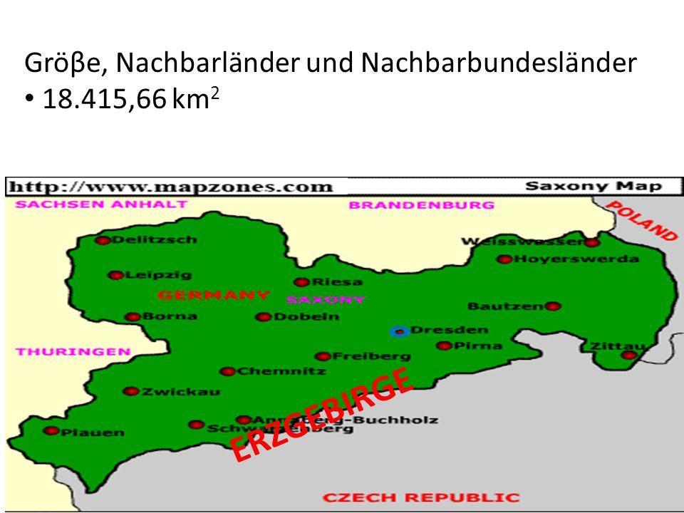 ERZGEBIRGE Gröβe, Nachbarländer und Nachbarbundesländer 18.415,66 km 2