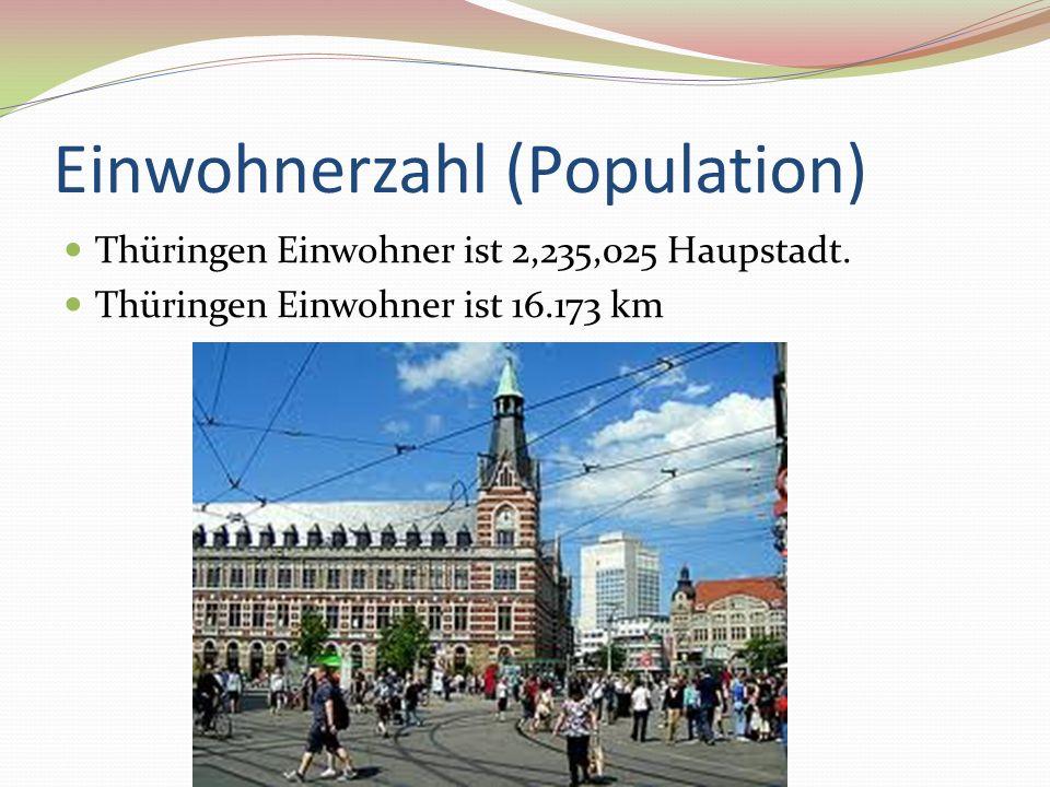 Einwohnerzahl (Population) Thüringen Einwohner ist 2,235,025 Haupstadt. Thüringen Einwohner ist 16.173 km