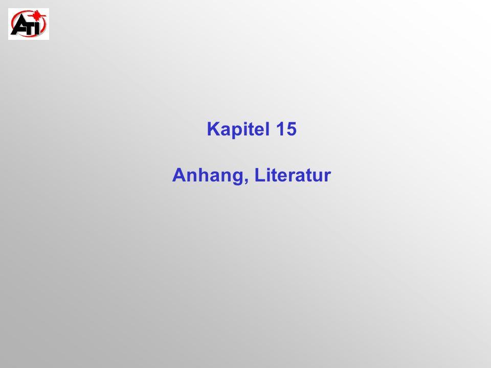 Kapitel 15 Anhang, Literatur