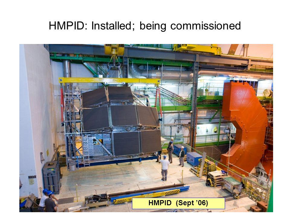 34 HMPID: Installed; being commissioned HMPID (Sept 06)