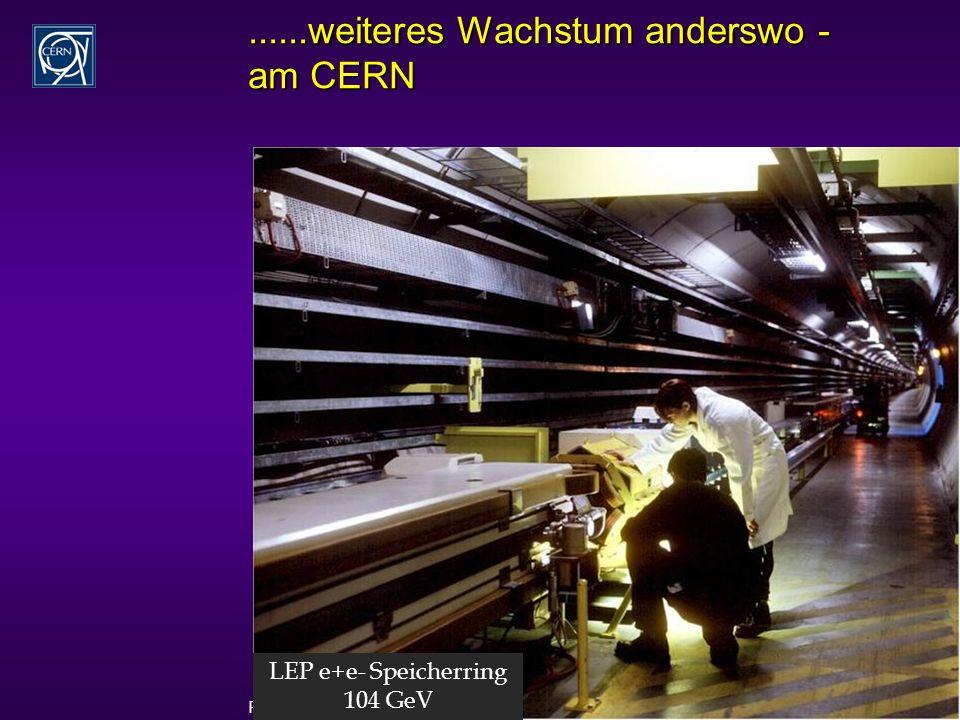 Rüdiger Schmidt - Karlsruhe Sonderkolloquium Juli 2006 15......weiteres Wachstum anderswo - am CERN LEP e+e- Speicherring 104 GeV