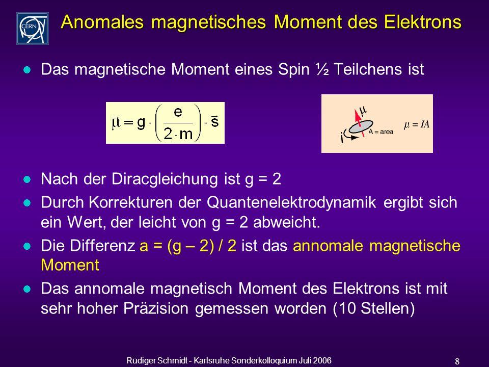 Rüdiger Schmidt - Karlsruhe Sonderkolloquium Juli 2006 39 Layout LEP Polarimeter M.Placidi and R.Rossmanith, A laser polarimeter for LEP, CERN-LEP-NOTE-539, 1985