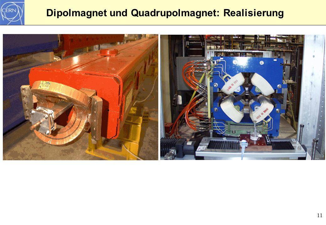 11 Dipolmagnet und Quadrupolmagnet: Realisierung