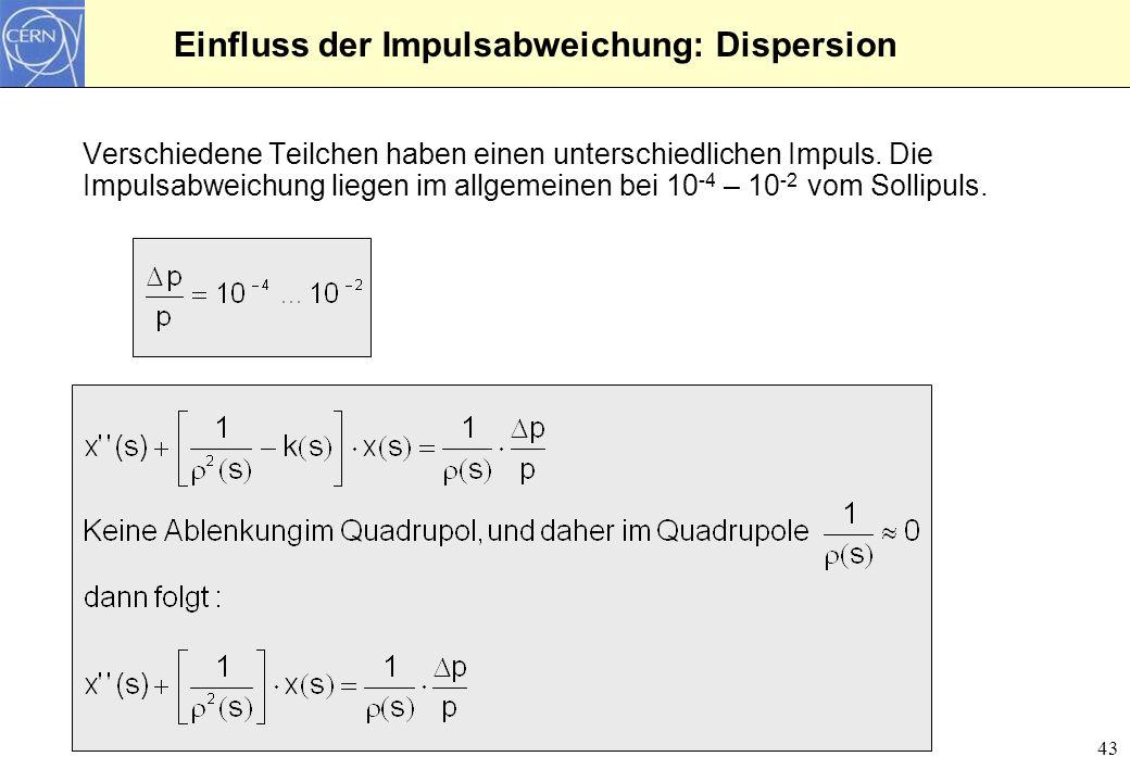 44 Differentialgleichung für die Dispersion