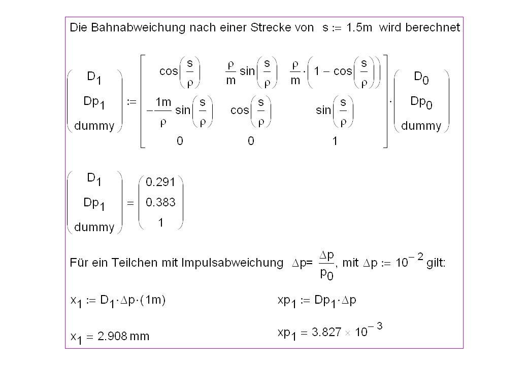 49 Dispersionsfunktion am LHC bei 1.18 TeV, Strahl 1