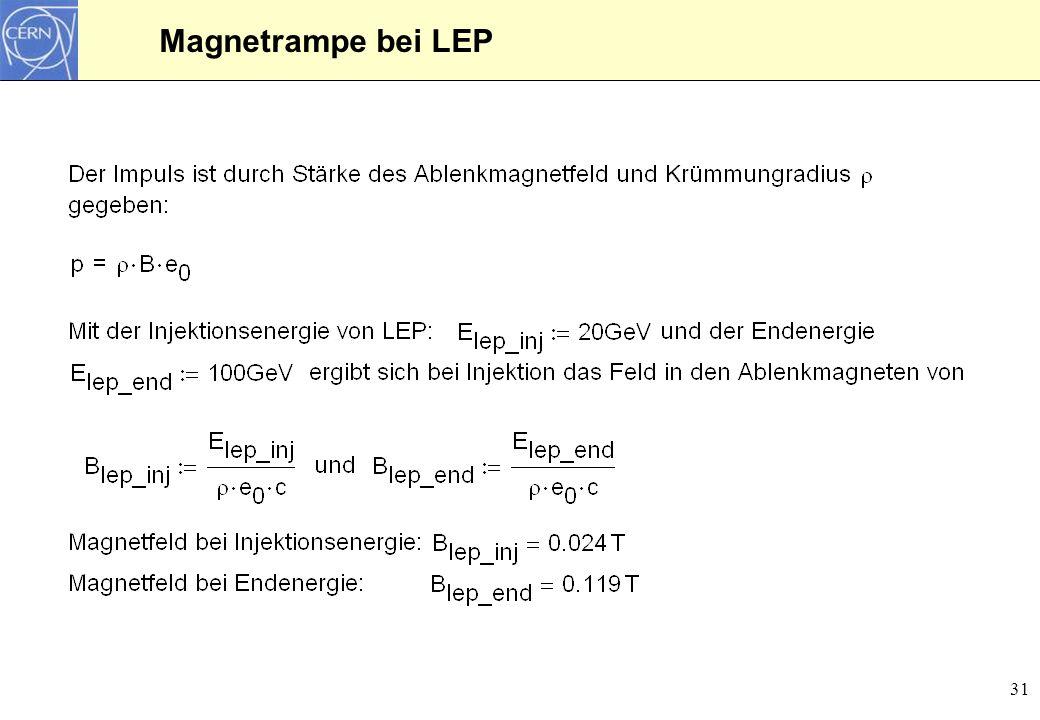 31 Magnetrampe bei LEP