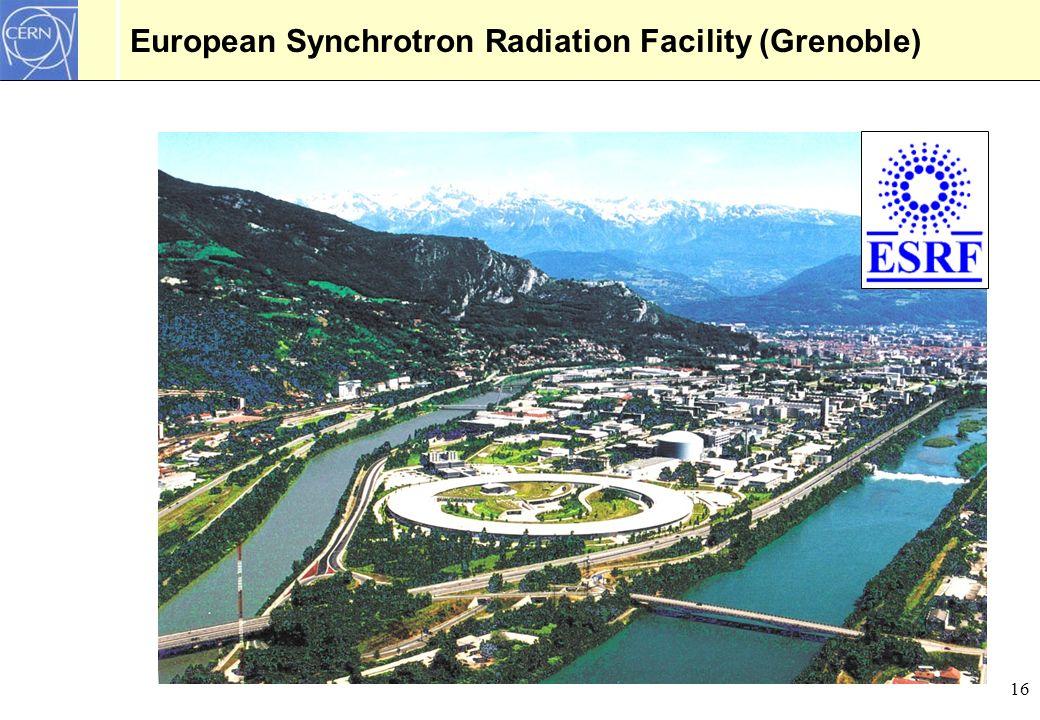 16 European Synchrotron Radiation Facility (Grenoble)