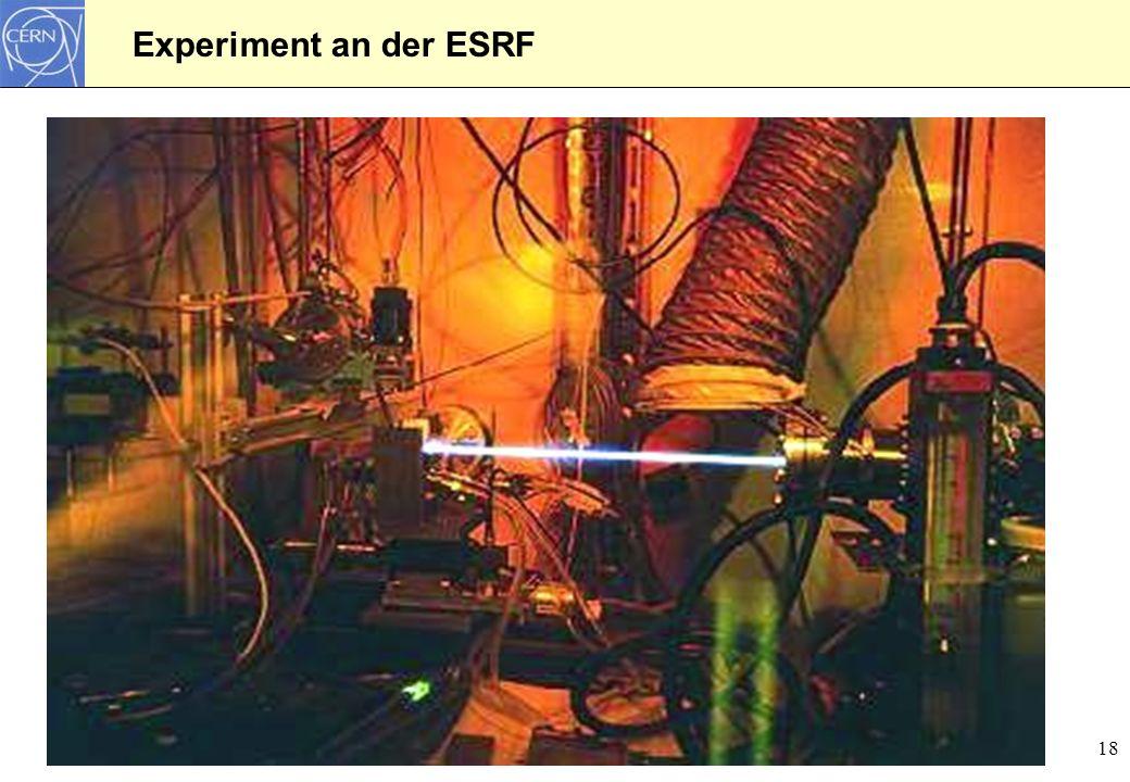 18 Experiment an der ESRF