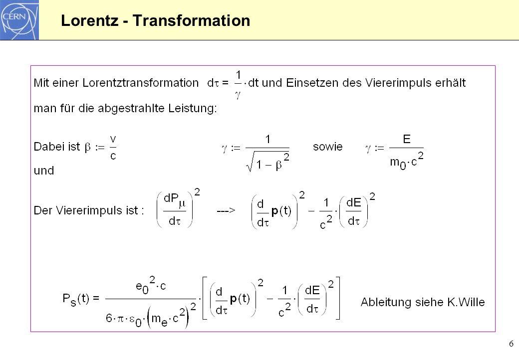 6 Lorentz - Transformation