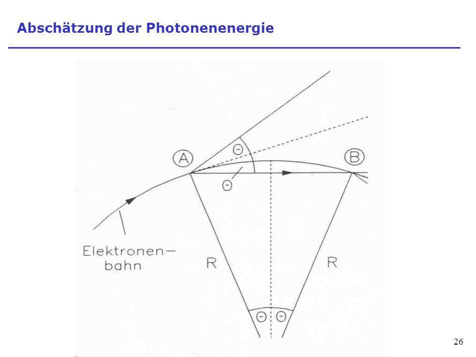 26 Abschätzung der Photonenenergie