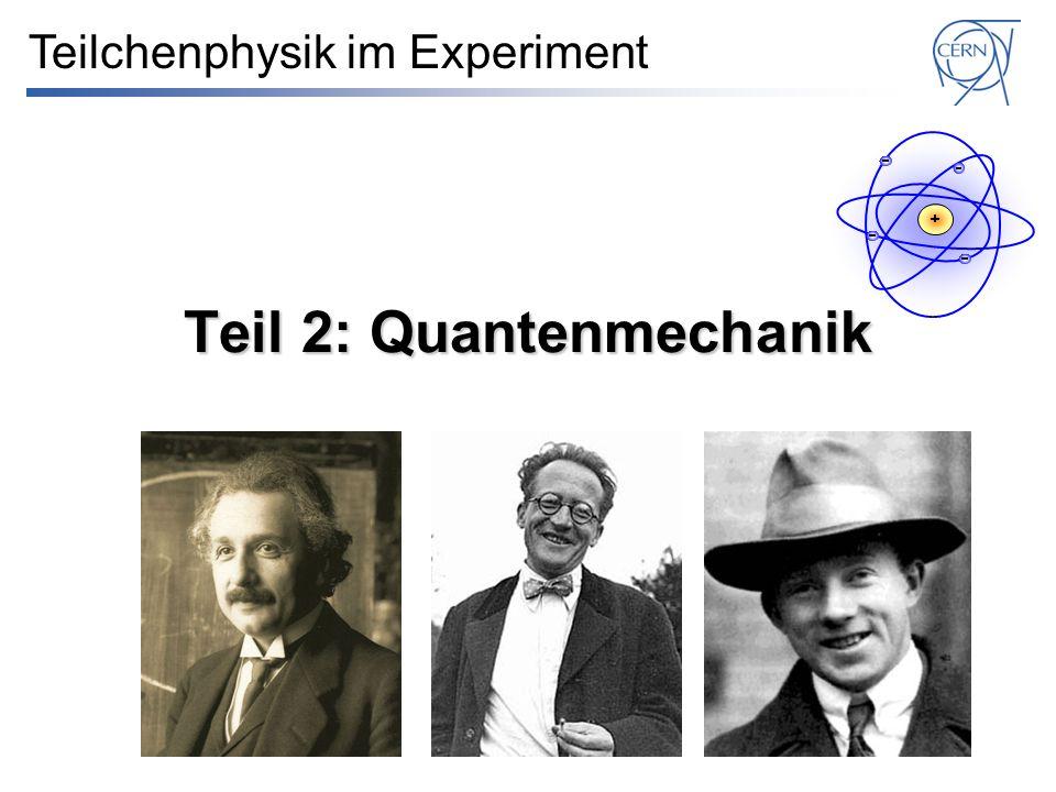 Teil 2: Quantenmechanik Teilchenphysik im Experiment