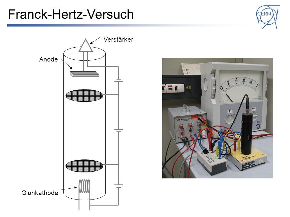 Glühkathode Anode Verstärker Franck-Hertz-Versuch