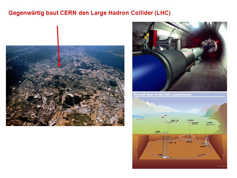 Gegenwärtig baut CERN den Large Hadron Collider (LHC)