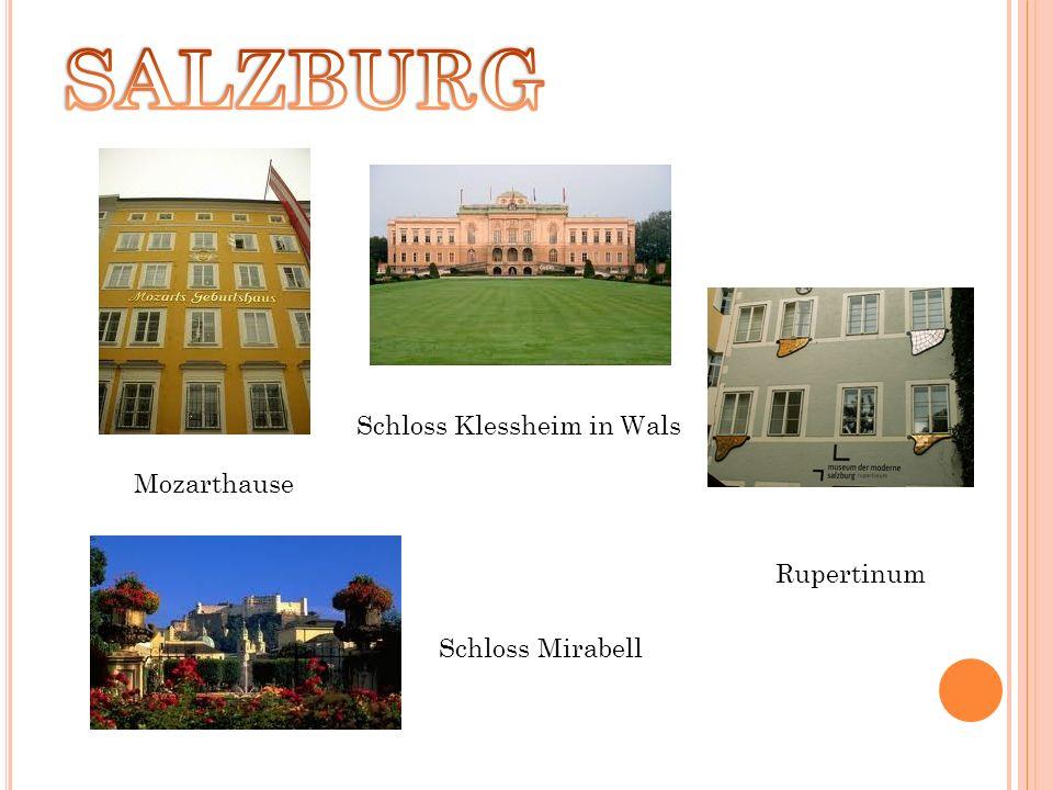 Mozarthause Schloss Schloss Klessheim in Wals Rupertinum Mirabell