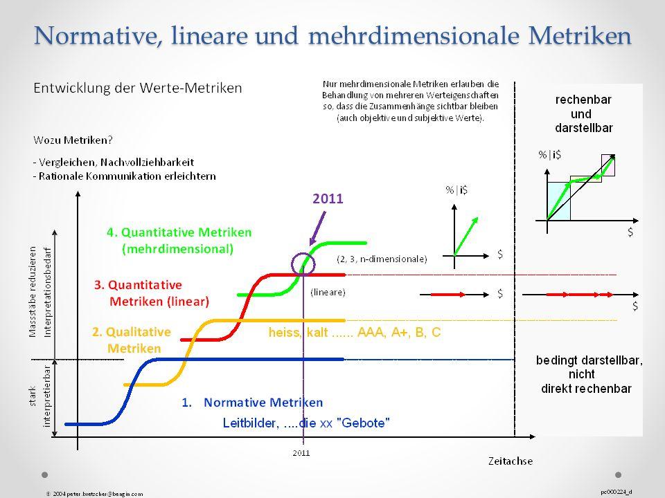 Normative, lineare und mehrdimensionale Metriken