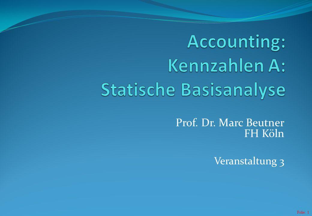 Folie: 1 Prof. Dr. Marc Beutner FH Köln Veranstaltung 3
