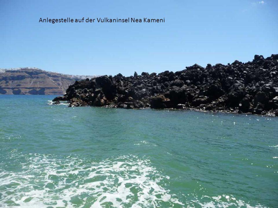 Anlegestelle auf der Vulkaninsel Nea Kameni