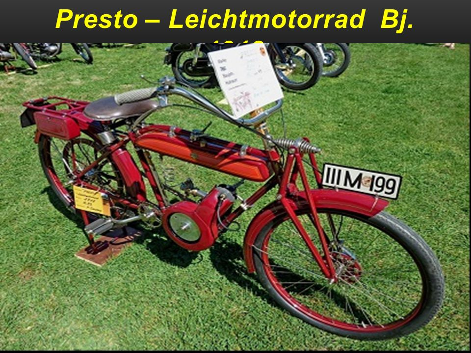 Presto – Leichtmotorrad Bj. 1918