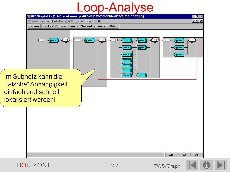 Loop-Analyse Im Subnetz kann die falsche Abhängigkeit einfach und schnell lokalisiert werden.