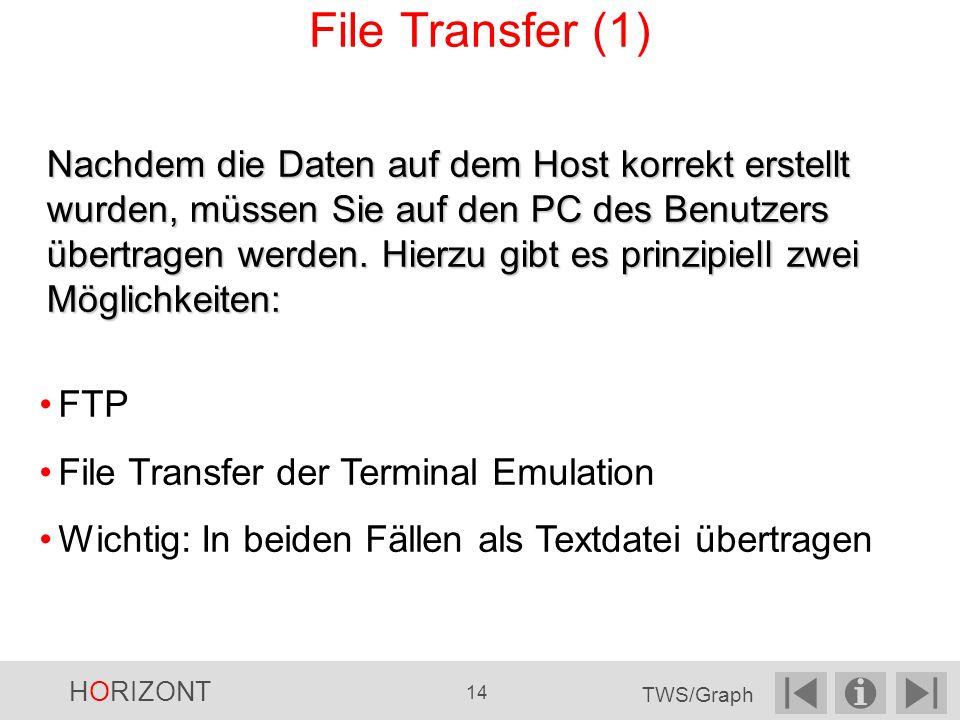 Nachdem die Daten auf dem Host korrekt erstellt wurden, müssen Sie auf den PC des Benutzers übertragen werden.