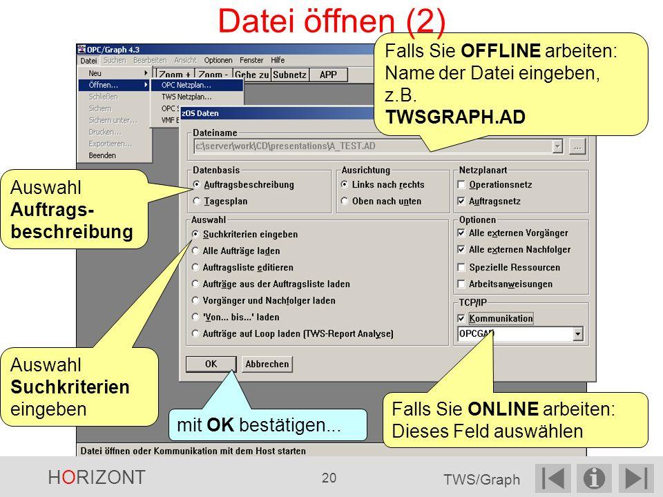 Falls Sie OFFLINE arbeiten: Name der Datei eingeben, z.B.