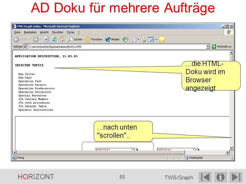 AD Doku für mehrere Aufträge...die HTML- Doku wird im Browser angezeigt...nach unten scrollen ..