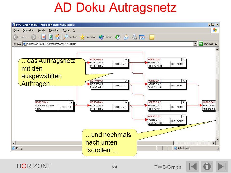 AD Doku Autragsnetz...das Auftragsnetz mit den ausgewählten Aufträgen......und nochmals nach unten scrollen ...