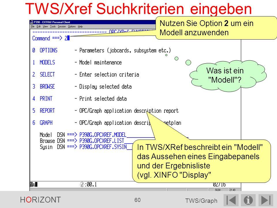 TWS/Xref Suchkriterien eingeben Nutzen Sie Option 2 um ein Modell anzuwenden Was ist ein Modell .