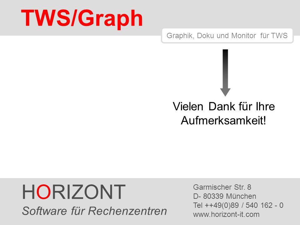 HORIZONT 17 TWS/Graph HORIZONT Software für Rechenzentren Garmischer Str. 8 D- 80339 München Tel ++49(0)89 / 540 162 - 0 www.horizont-it.com TWS/Graph