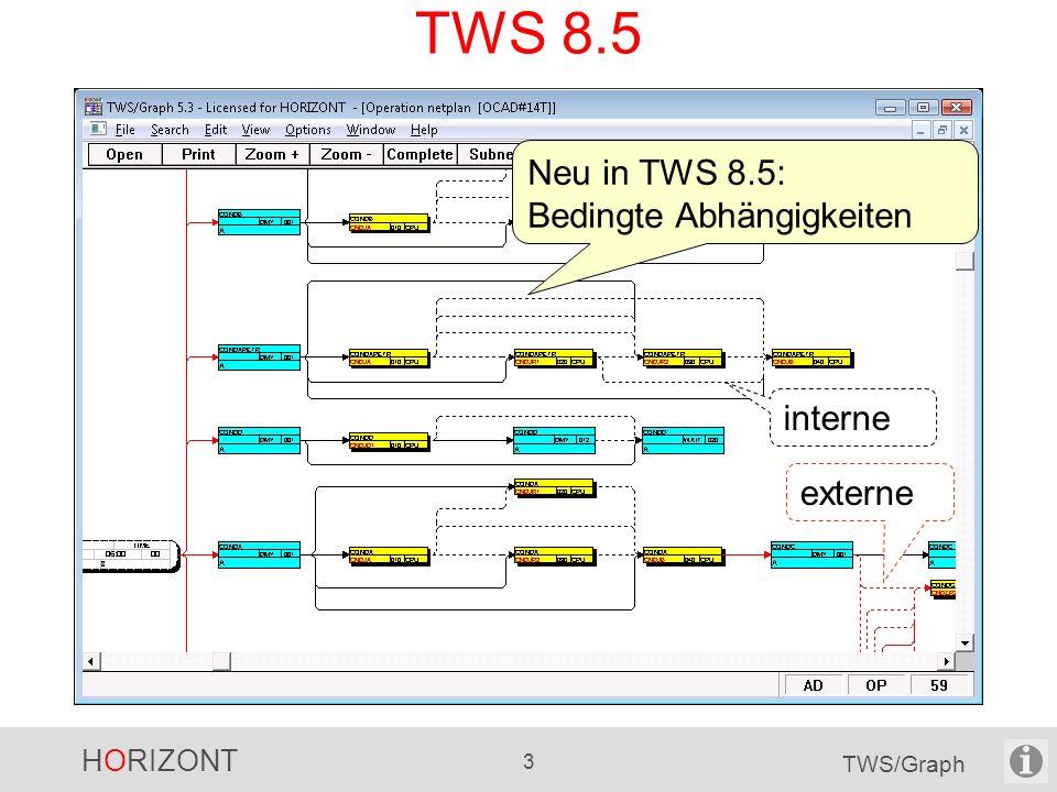 HORIZONT 3 TWS/Graph TWS 8.5 Neu in TWS 8.5: Bedingte Abhängigkeiten interne externe