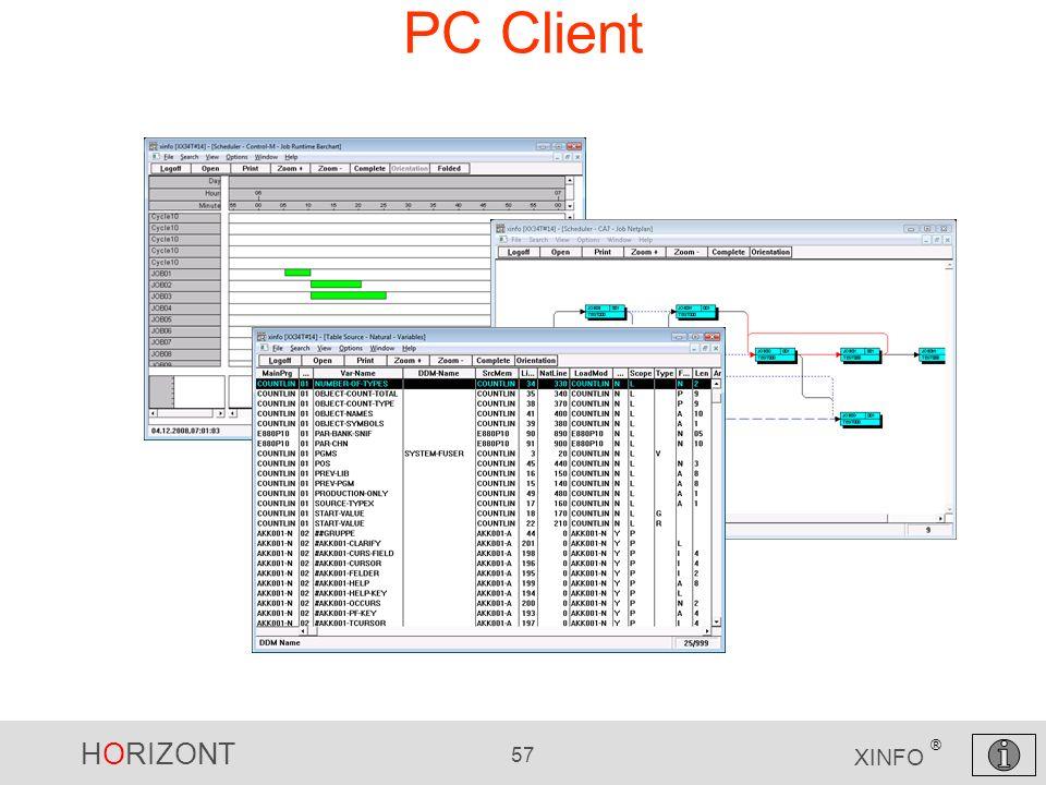HORIZONT 57 XINFO ® PC Client