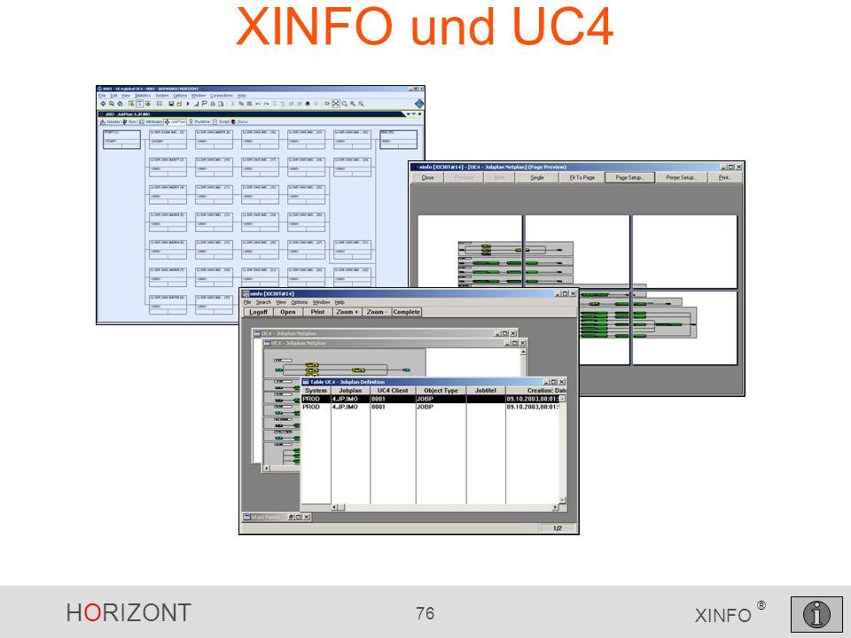 HORIZONT 76 XINFO ® XINFO und UC4