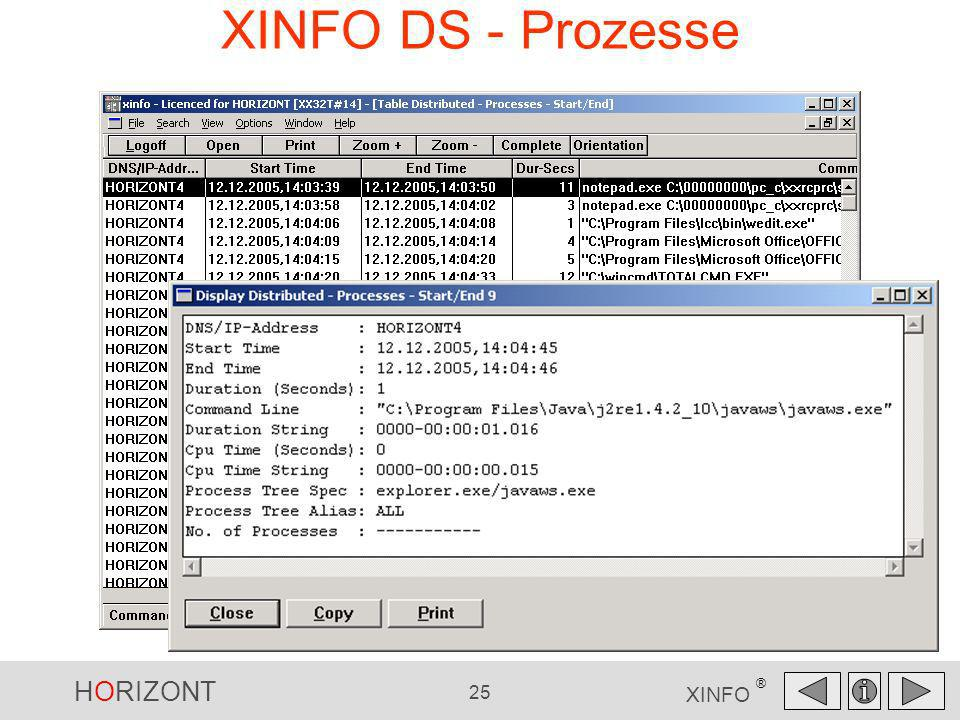 HORIZONT 25 XINFO ® XINFO DS - Prozesse