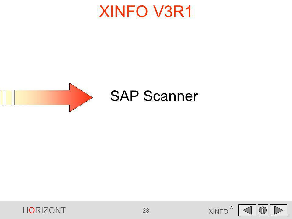 HORIZONT 28 XINFO ® XINFO V3R1 SAP Scanner SAP Scanner