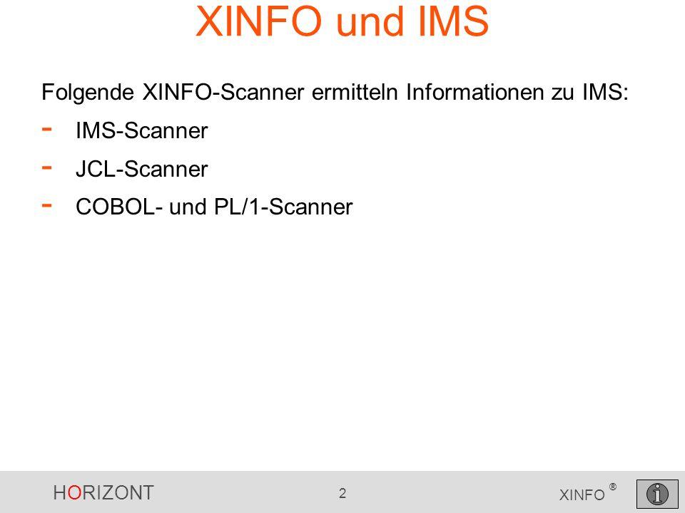 HORIZONT 3 XINFO ® XINFO und IMS 1.
