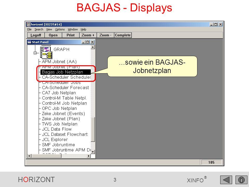 HORIZONT 3 XINFO ® BAGJAS - Displays...sowie ein BAGJAS- Jobnetzplan