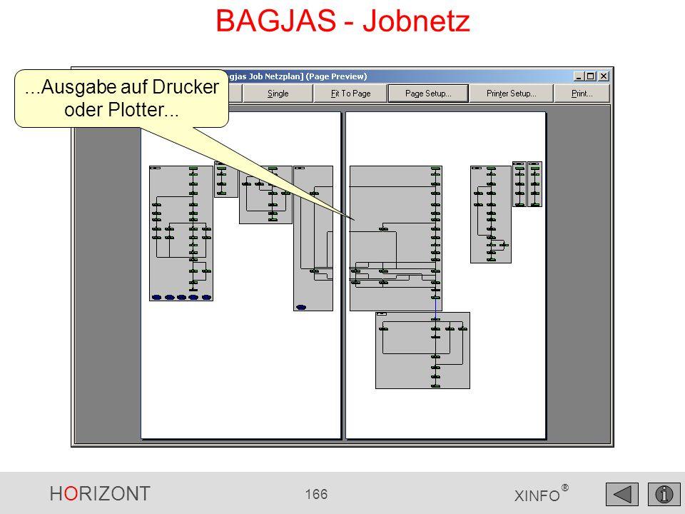 HORIZONT 166 XINFO ® BAGJAS - Jobnetz...Ausgabe auf Drucker oder Plotter...