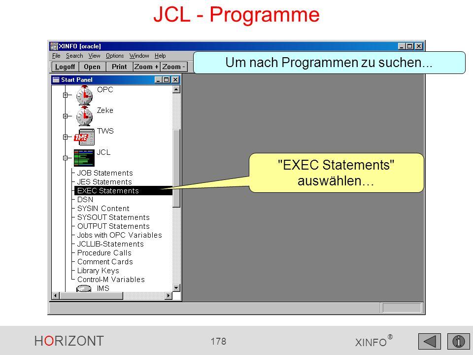 HORIZONT 178 XINFO ® JCL - Programme