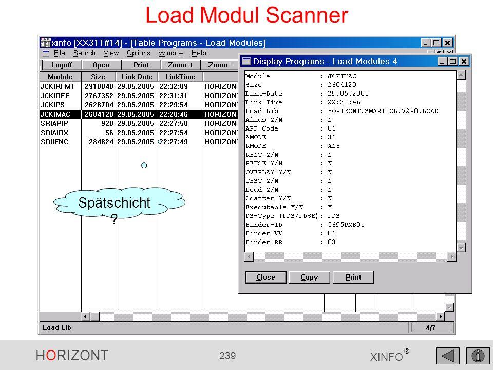 HORIZONT 239 XINFO ® Load Modul Scanner Spätschicht ?