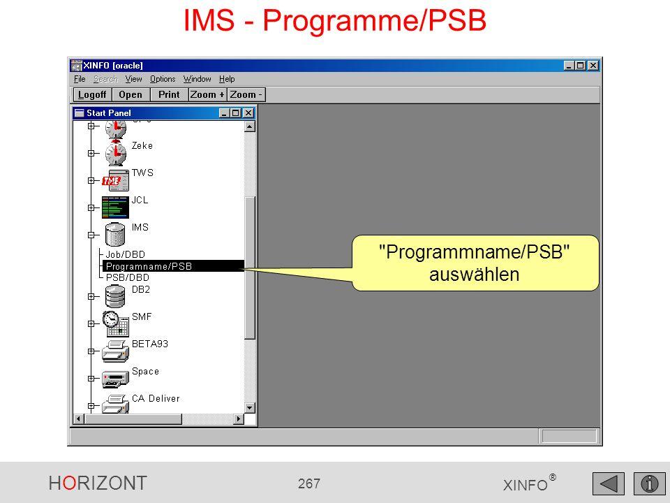 HORIZONT 267 XINFO ® IMS - Programme/PSB
